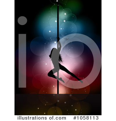 Pole Dancing Clipart #1058113 by KJ Pargeter