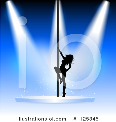 Pole Dancing Clipart #1125345 by KJ Pargeter