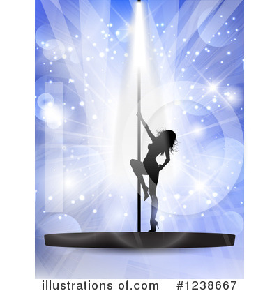 Pole Dancing Clipart #1238667 by KJ Pargeter