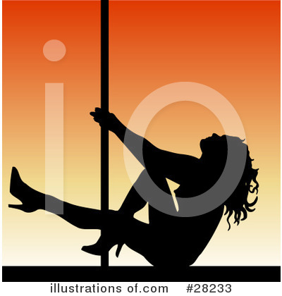 Royalty-Free (RF) Pole Dancer Clipart Illustration by KJ Pargeter - Stock Sample #28233