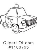 Royalty-Free (RF) Police Car Clipart Illustration #1100795