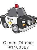 Royalty-Free (RF) Police Car Clipart Illustration #1100827