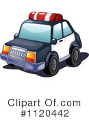 Royalty-Free (RF) Police Car Clipart Illustration #1120442