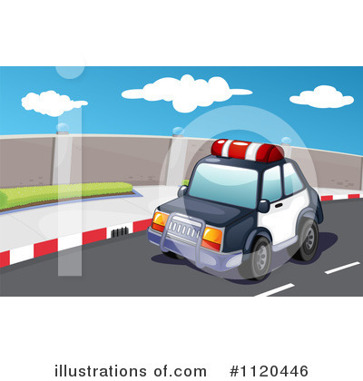 Police Car Clipart #1120446 by Graphics RF