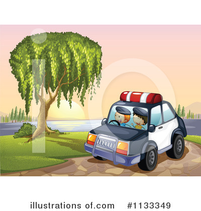 Police Car Clipart #1133349 by Graphics RF