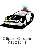 Royalty-Free (RF) Police Car Clipart Illustration #1321611