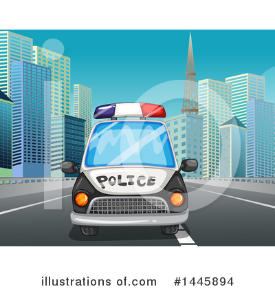 Police Car Clipart #1445894 by Graphics RF