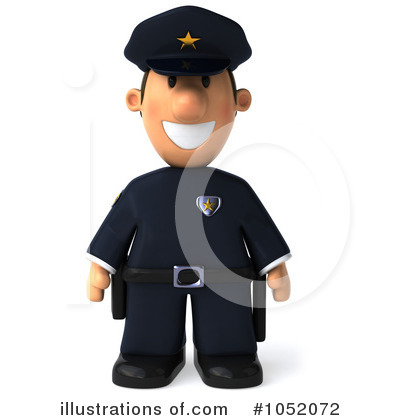 Police Toon Guy Clipart #1052072 by Julos