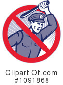 Royalty-Free (RF) Police Clipart Illustration #1091868