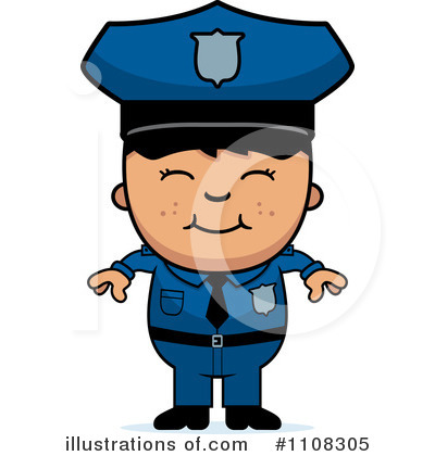 Police Man Clipart #1108305 by Cory Thoman