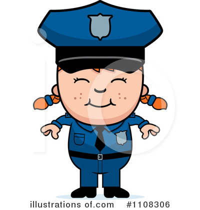 Police Man Clipart #1108306 by Cory Thoman