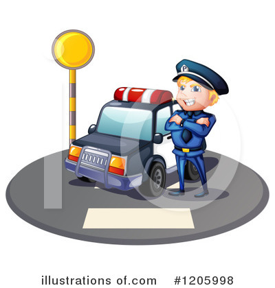 Police Car Clipart #1205998 by Graphics RF