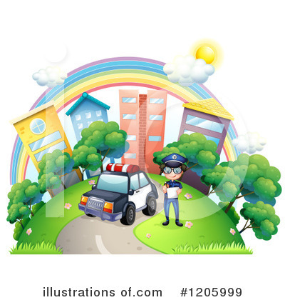 Police Car Clipart #1205999 by Graphics RF