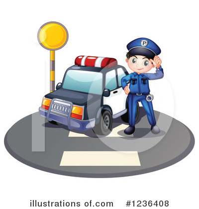 Police Car Clipart #1236408 by Graphics RF