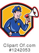 Royalty-Free (RF) Police Clipart Illustration #1242053