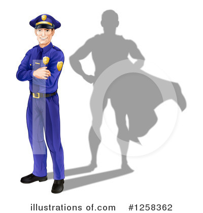Police Man Clipart #1258362 by AtStockIllustration