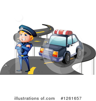 Police Car Clipart #1261657 by Graphics RF