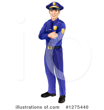 Police Officer Clipart #1275440 by AtStockIllustration
