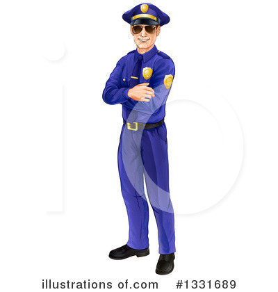 Police Officer Clipart #1331689 by AtStockIllustration