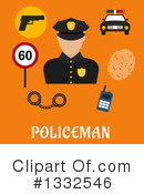 Royalty-Free (RF) Police Clipart Illustration #1332546