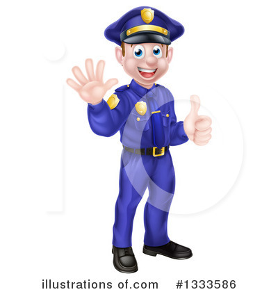 Police Officer Clipart #1333586 by AtStockIllustration