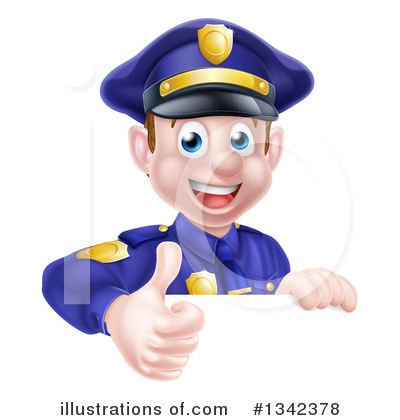 Police Officer Clipart #1342378 by AtStockIllustration