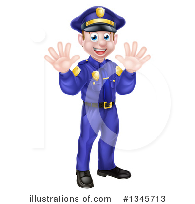 Police Officer Clipart #1345713 by AtStockIllustration