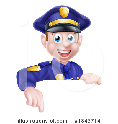 Police Officer Clipart #1345714 by AtStockIllustration