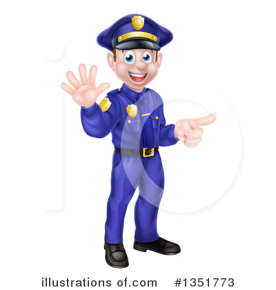 Police Officer Clipart #1351773 by AtStockIllustration