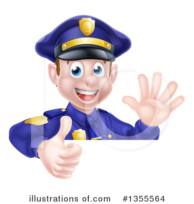 Police Officer Clipart #1355564 by AtStockIllustration