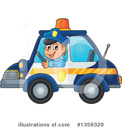 Royalty-Free (RF) Police Clipart Illustration by visekart - Stock Sample #1356320