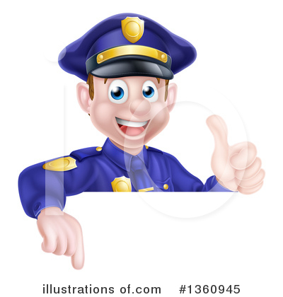 Police Officer Clipart #1360945 by AtStockIllustration