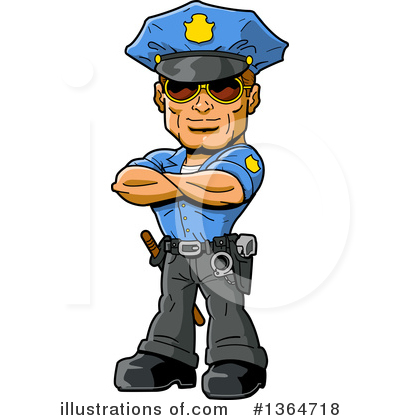 Royalty-Free (RF) Police Clipart Illustration by Clip Art Mascots - Stock Sample #1364718