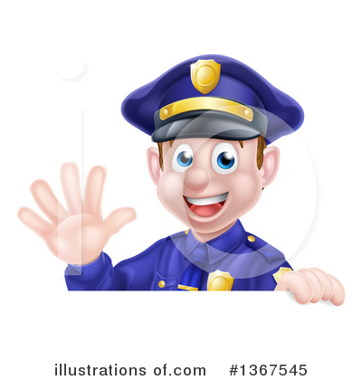Police Officer Clipart #1367545 by AtStockIllustration