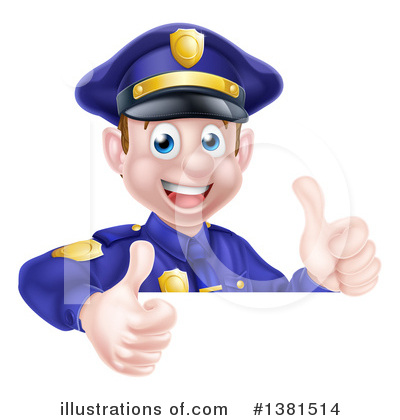 Police Man Clipart #1381514 by AtStockIllustration