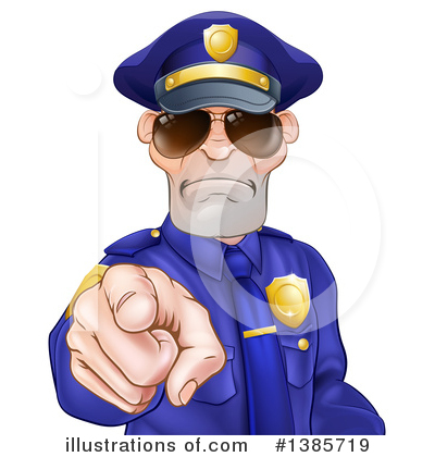 Police Man Clipart #1385719 by AtStockIllustration