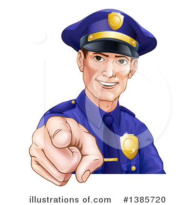 Police Man Clipart #1385720 by AtStockIllustration