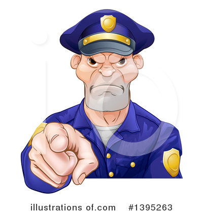 Police Man Clipart #1395263 by AtStockIllustration