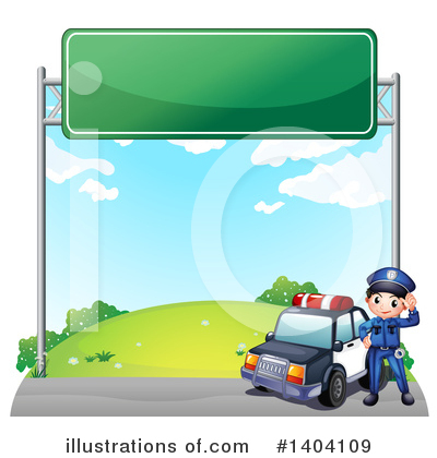 Police Car Clipart #1404109 by Graphics RF