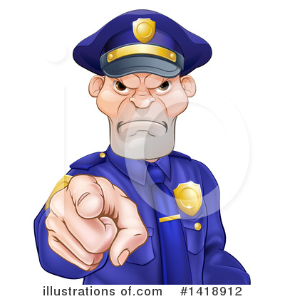 Police Man Clipart #1418912 by AtStockIllustration