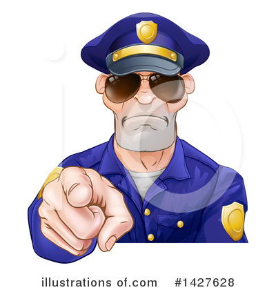 Police Officer Clipart #1427628 by AtStockIllustration