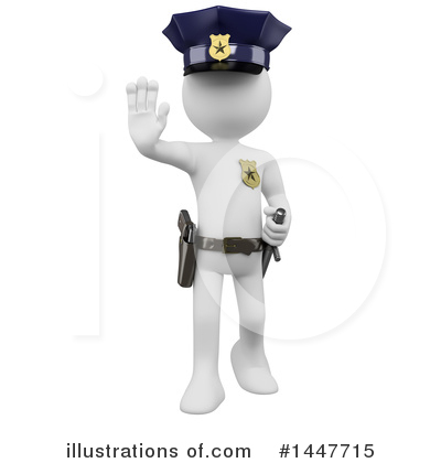 Police Officer Clipart #1447715 by Texelart