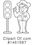 Royalty-Free (RF) Police Clipart Illustration #1461587
