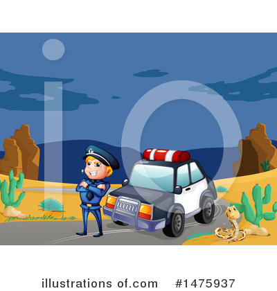 Police Car Clipart #1475937 by Graphics RF