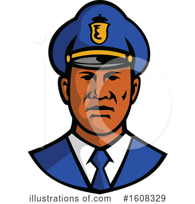Royalty-Free (RF) Police Clipart Illustration by patrimonio - Stock Sample #1608329