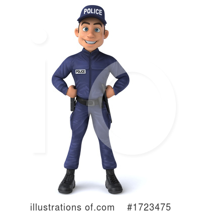 Royalty-Free (RF) Police Clipart Illustration by Julos - Stock Sample #1723475