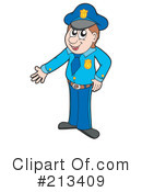 Royalty-Free (RF) Police Clipart Illustration #213409