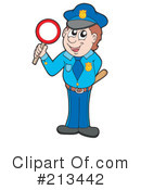 Royalty-Free (RF) Police Clipart Illustration #213442
