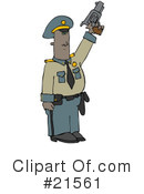 Royalty-Free (RF) Police Clipart Illustration #21561