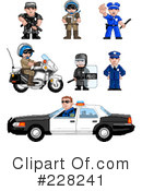 Royalty-Free (RF) Police Clipart Illustration #228241